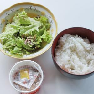 今日の高血圧対策料理 質素すぎる昼食