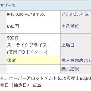 【IPO投資】2020/06:22日までの抽選結果〜グッドパッチ(7351)〜