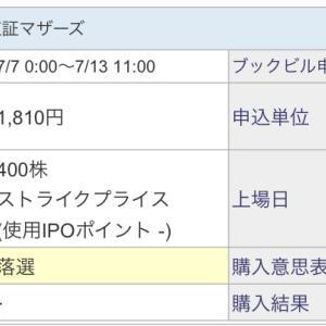 【IPO投資】2021/7:14日の抽選結果