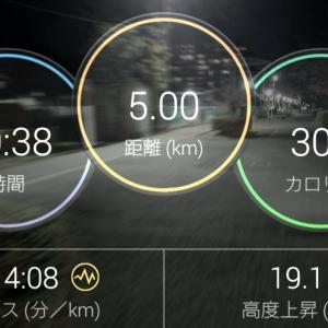 5000mペース走のていたらく