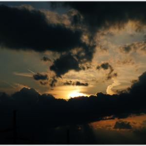 夕方の西の空