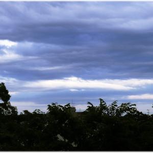 夕方の微妙な天気