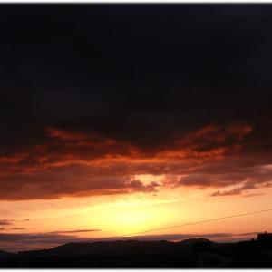 味のある夕焼け雲