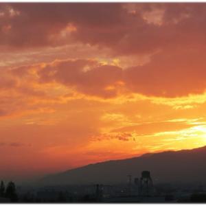 夕方の空はすっかり秋空
