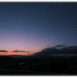 近づく冬の夕暮