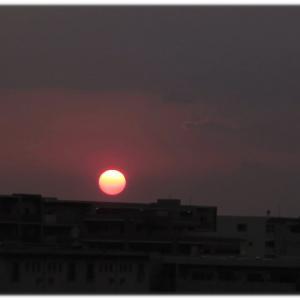 まもなく日没