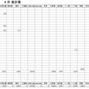 2021年5月家計簿 総計¥100236