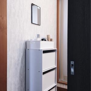 洗面台向かいのスペース活用法