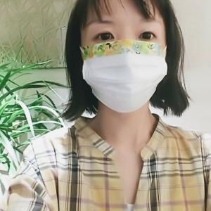 憂鬱なマスク生活を楽しむ♪市販マスクを超簡単100均アレンジ