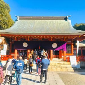 家族で熊本の藤崎八幡宮へ初詣