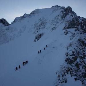 年末の剱岳・早月尾根の山行記録を清書した。