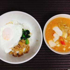 野菜スープの使い回しアレンジでスンドゥブチゲ風!