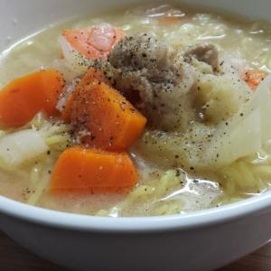 使い回し野菜スープをアレンジ!絶品味噌ラーメンに変身!