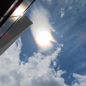 定例会は常任委員会開催、議案も事故原発処理水請願も成立の見込み。空には彩雲、昨日のハロも紹介。
