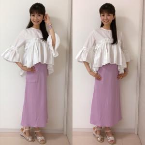 【しまむら購入品】500円で美シル完成 キレイ色スカート