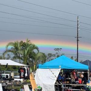 マクウファーマーズマーケットと最高の虹に出会えた!
