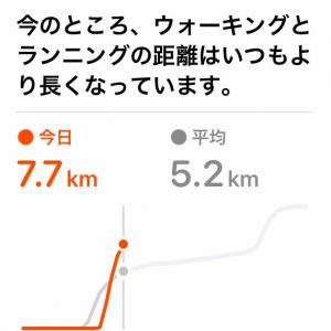 朝から7キロよん