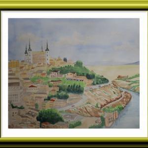 スペインの世界遺産トレドの街を描く