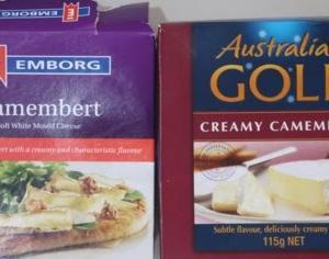 フィリピンに輸入されている輸入食品比較 カマンベールとミルク