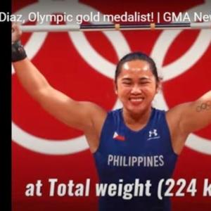 フィリピンに初のオリンピックゴールドメダルをもたらせた重量挙げヒディリン・ディアス