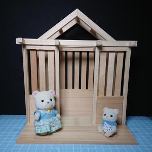 ミニチュアキットのガーデンハウス 改造①