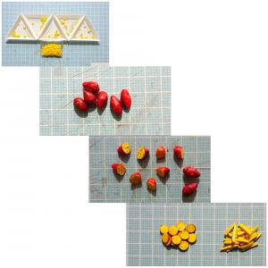 街道シリーズ川越の蔵造り№4樹脂ペレットで芋菓子を作り完成