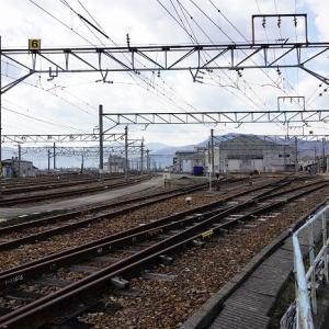 機関車がいない篠ノ井機関区