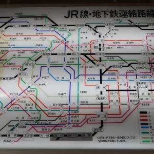 JR(国鉄)線・地下鉄連絡路線図