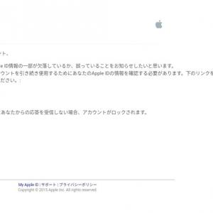 偽アップルからのメールでクレジットカード情報を盗まれてしまった