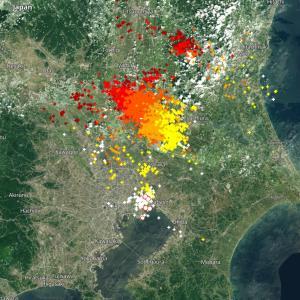 リアルタイム 雷がどこに落ちたかわかる地図
