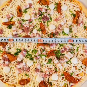 コストコのピザのサイズ 電子レンジに入る?