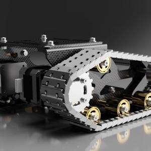 3Dプリンターでクローラーロボット|ハード部分の完成