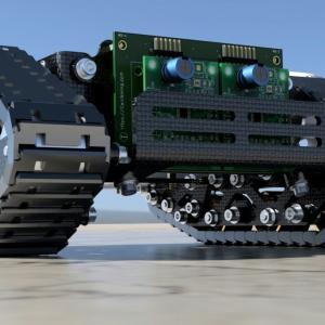 3Dプリンターでクローラーロボットの足廻りを製作