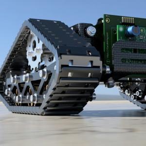 3Dプリンターで作ったクローラー(キャタピラ)の動作確認