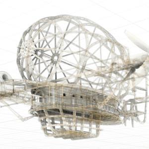 タイガーモス号風3Dモデルの作成 11週目