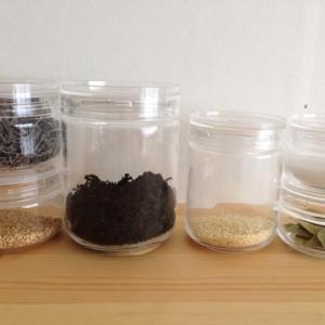 【時短家事】ジャムの瓶より使いやすい!ガラス保存容器「チャーミークリアー」で粉物収納。