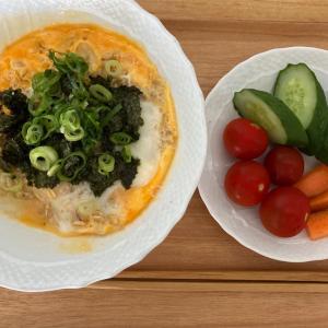 【目標3kg減】「ほっとする味の卵どん」@オートミール米化ダイエット
