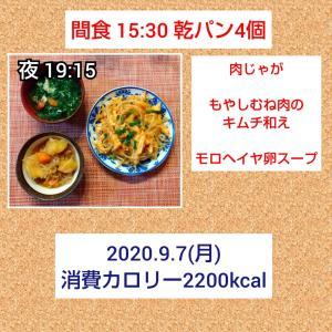 9月7日(月)〜9月9日(水)の記録/57.8kg・58.2kg・58.0kg