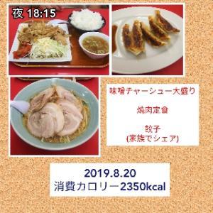 夕飯は味噌チャーシュー〜!!!/56.5kg