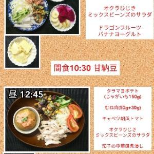 夕飯はぶっかけうどんと天ぷら〜!!!/57.6kg