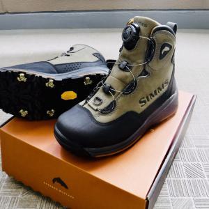 ラバーソールでウェーディングしたい! SIMMSヘッドウォーター・Boaというブーツを追加してみること。