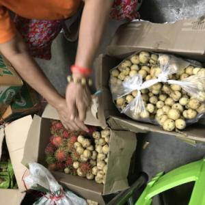 【フルーツ天国のタイ】 タイ南部から首都バンコクまで国鉄で運ばれてきたフルーツたち。