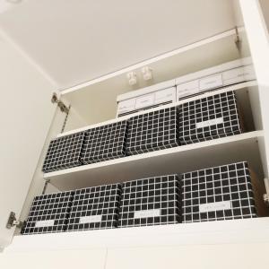 我が家では欠かせない!キッチン背面収納のための段ボール引き出し。