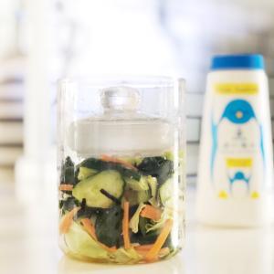 コレ良い!HARIOの冷蔵庫ポケットにすっぽり収まる漬物グラス。