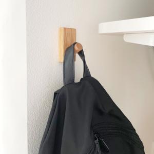 空いたスペースをバッグの収納場所に。