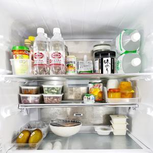 冷蔵庫の断捨離と夏仕様の配置替え。