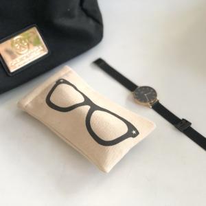 こんな眼鏡ケースが欲しかった♡フライングタイガーで買ったプチプラオシャレな布製眼鏡ケース。