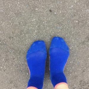7月のトータル & 靴下ラン11,12回目