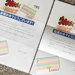 【当選品】 セブンイレブン 1,000円相当付きnanacoカード TBSテレビ