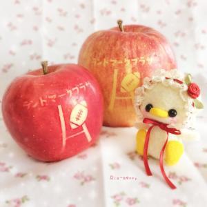 ラグビーりんごとひよこのはなちゃん☆ぬい撮り